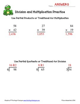 Multiplication & Division Worksheets (double digit)