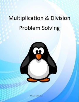 Multiplication & Division Word Problem Task Cards/Scoot Activity