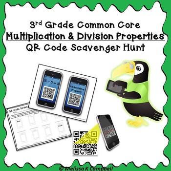 Multiplication & Division Properties QR Code Scavenger Hunt
