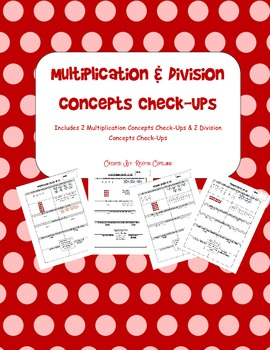 Multiplication & Division Quick Check Ups Pack