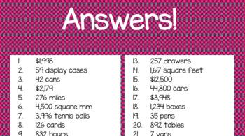 Multiplication&Division Real-World Word Problem TASK CARDS 4th Gr. TEKS! NO PREP