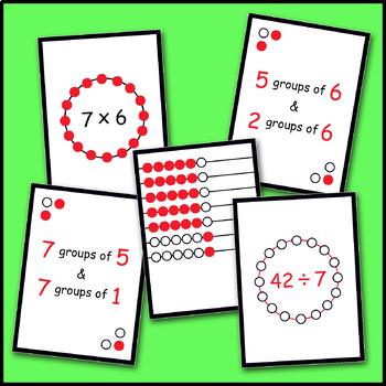 Multiplication & Division Rekenrek Array Cards