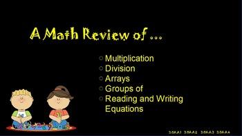 Multiplication & Division Review ~ Promethean Flip Chart ~ 3rd & 4th Grade Math