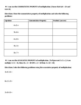 Multiplication & Division Review Sheet Packet