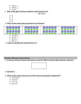 Multiplication & Division SOL Review - Editable
