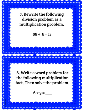 Multiplication & Division Task Cards