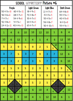 Multiplication & Division School Mystery Pictures