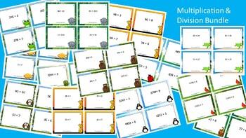 Multiplication & Division Scoot Activity/Task Card Bundle