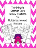Multiplication & Division Stations for 3rd Grade Common Core