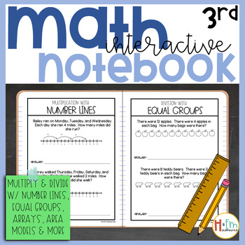 Multiplication & Division Strategies Interactive Notebook Pack