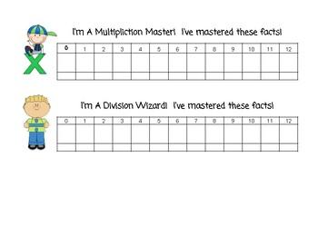 Multiplication & Division Student Tracker