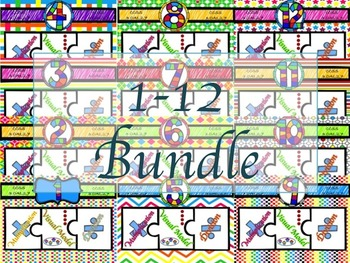 Multiplication & Division Super Bundle 1-12 Puzzles with Visual Model