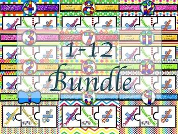 Multiplication & Division Super Bundle 1-12 Puzzles with V