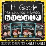 Multiplication & Division Task Card Bundle   4th Grade