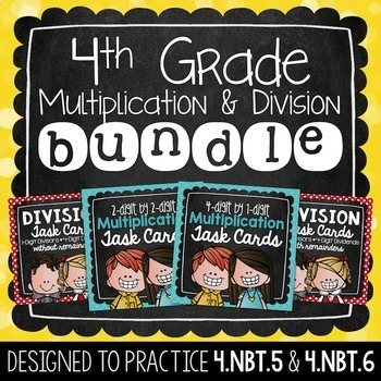 Multiplication & Division Task Card Bundle | 4th Grade