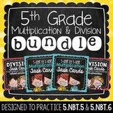 Multiplication & Division Task Card Bundle   5th Grade