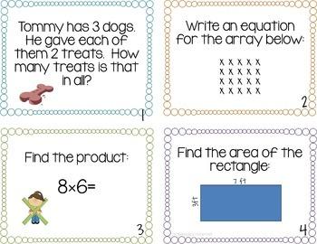 Multiplication & Division Task Card Set