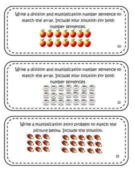Multiplication Division Task Cards