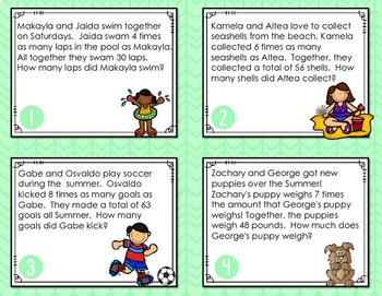Multiplication & Division Task Cards {Splash into Summer!}