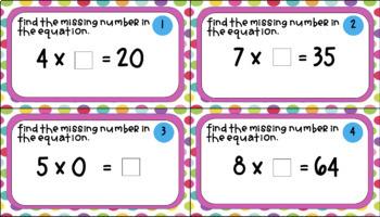 Multiplication & Division Task Cards