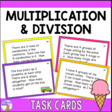 Multiplication & Division Task Cards (Distance Learning)