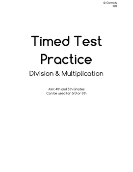 Multiplication & Division Timed Tests