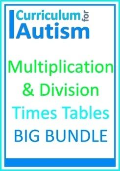 Multiplication Division Times Tables Bundle Autism Special Education