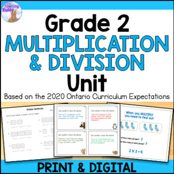 Multiplication & Division Unit for Grade 2 (Ontario Curriculum)