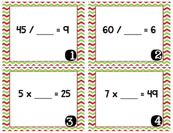 Multiplication & Division Units Review Task Cards