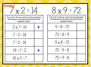 Multiplication Division Variables for Google Classroom