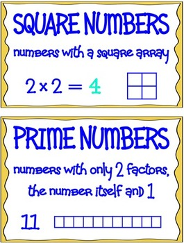 Multiplication & Division Vocabulary Mini-Posters