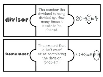 Multiplication & Division Vocabulary Puzzles
