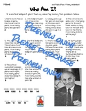 Multiplication & Division Who Am I? Inventor Worksheets 17 Pack