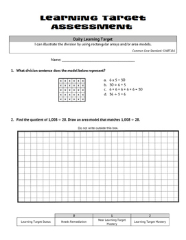 Multiplication & Division (Whole Numbers): Rectangular Arrays & Area Models