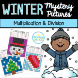 Multiplication & Division Winter Mystery Pictures