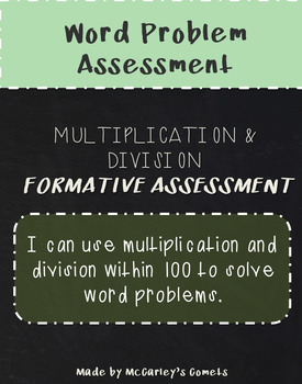 Multiplication & Division Assessment