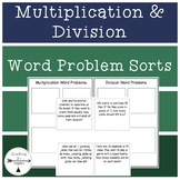 Multiplication & Division Word Problem Sorts