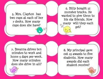 Multiplication & Division Word Problem Task Cards