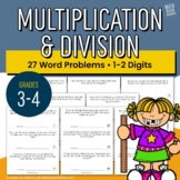 Multiplication & Division Word Problems   1-2 Digit Numbers   Grades 3-5