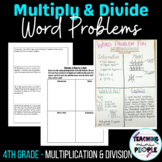 Multiplication & Division Word Problems - Anchor Charts, Mini Lesson & Practice