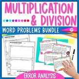 Multiplication & Division Word Problems Task Cards - Error