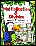 Multiplication & Division Word Problems Game - Facts 0-12