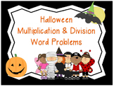 Multiplication & Division Word Problems (Halloween Task Cards)