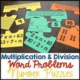 Multiplication & Division Word Problems Number Puzzle