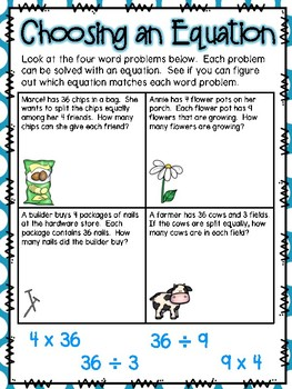 Multiplication & Division Word Problems Small Group Lesson #2