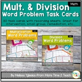 Multiplication & Division Word Problems Task Cards Bundle {Common Core}