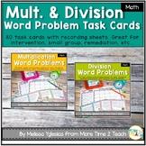 Multiplication & Division Word Problems Task Cards Bundle