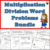 Multiplication Division Word Problems Worksheets Bundle Grade 3-4