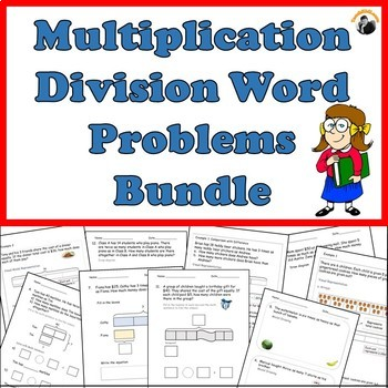 multiplication division word problems worksheets bundle. Black Bedroom Furniture Sets. Home Design Ideas