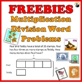 Multiplication Division Word Problems Worksheets Freebies Grade 3-4